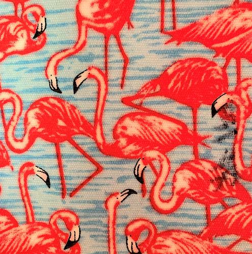 Printed Fabric (Flamingo Blue Bg)