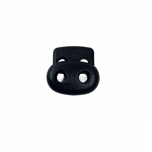 "SR00005 - stopper PVC ""double holes"" black"