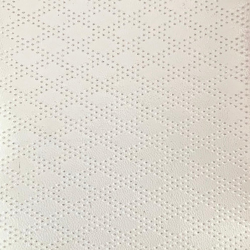 PU Leather - Rhombus (White)