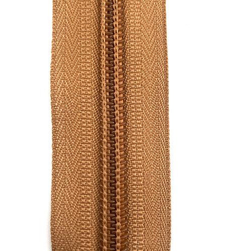 Zipper Nylon #6 (Light Brown)