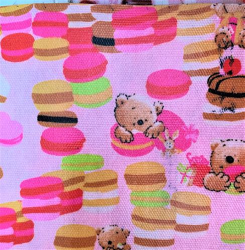 Printed Fabric (Macaron Bear - Pink)