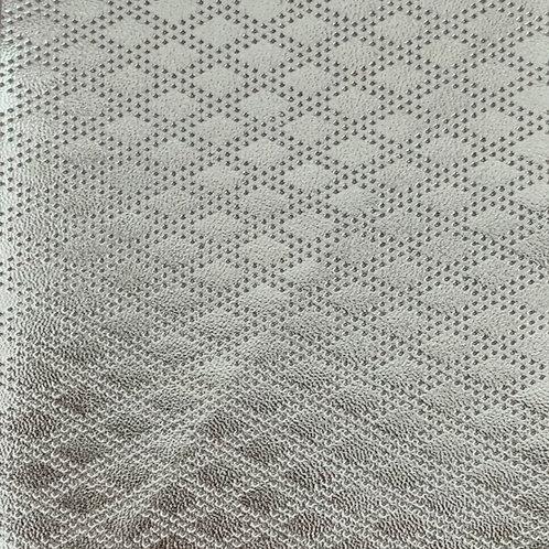 PU Leather - Rhombus (Silver)
