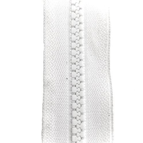 Zipper Nylon Grosse Maille (White)