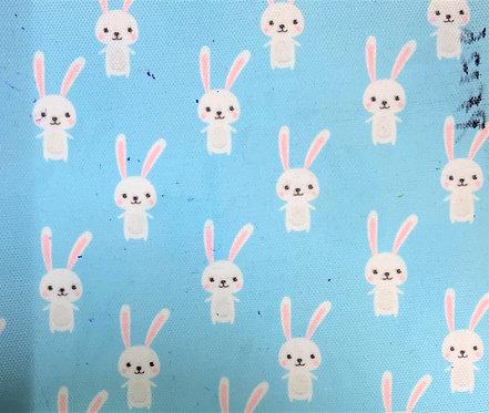 Printed Fabric (Bunnies - Blue Bg)