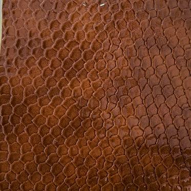 PU Leather - Croco (Light Brown)