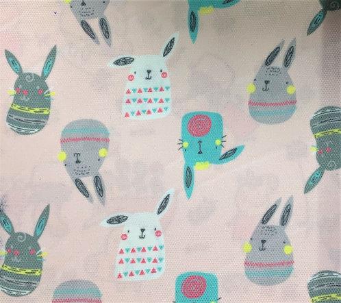 Printed Fabric (Bunnies - Pink Bg)