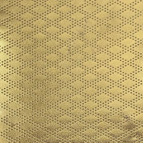 PU Leather - Rhombus (Gold)
