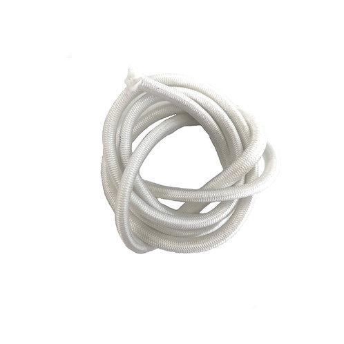 Elastic Round 3mm (White)