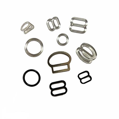 HK00003 - hook/ring PVC bretelle