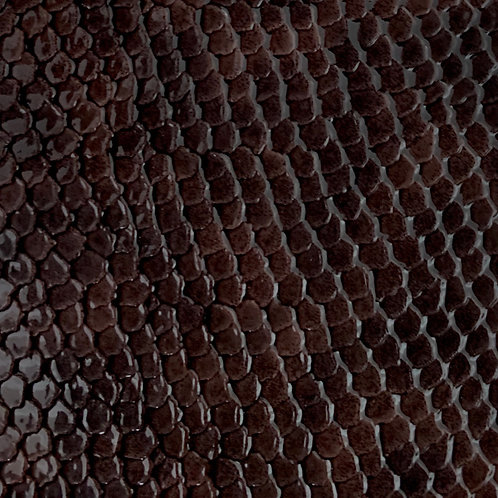PU Leather - Croco (Dark Brown)