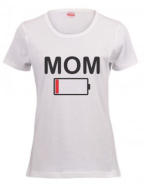 Battery Low Mom Ladies T Shirt