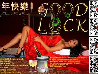 Neujahrsgrüsse Bonne année Felice Anno Nuovo Happy New  year