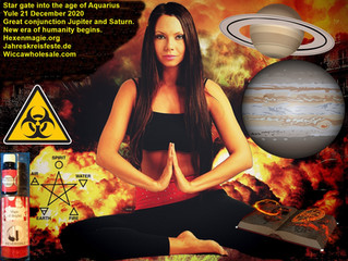 Star gate into the age of Aquarius Yule 21 December 2020Great conjunction Jupiter and Saturn.