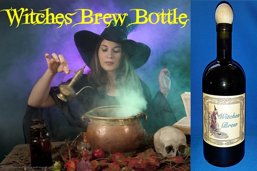 witches brew bottle