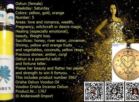 Oshun Erzulie Voodoo Loa Veve love spell amulet