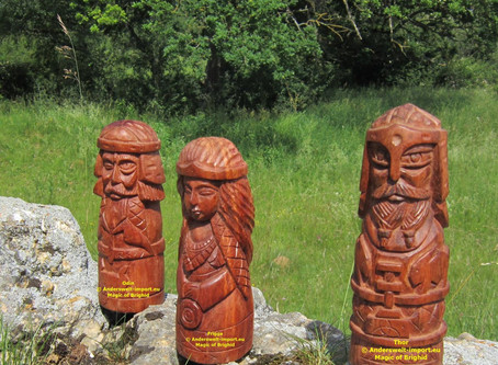 Odin Thor Frigga Scandinavian Gods wooden handicrafts