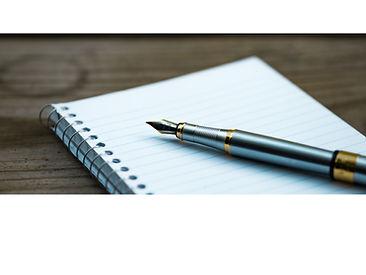 Photo plume sur cahier pour contact copi