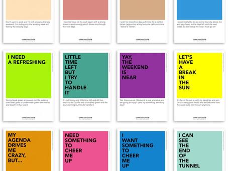 Eine Farbe pro Tag. Verbessern Sie Ihr (Home) Office-Erlebnis durch Farbgestaltung