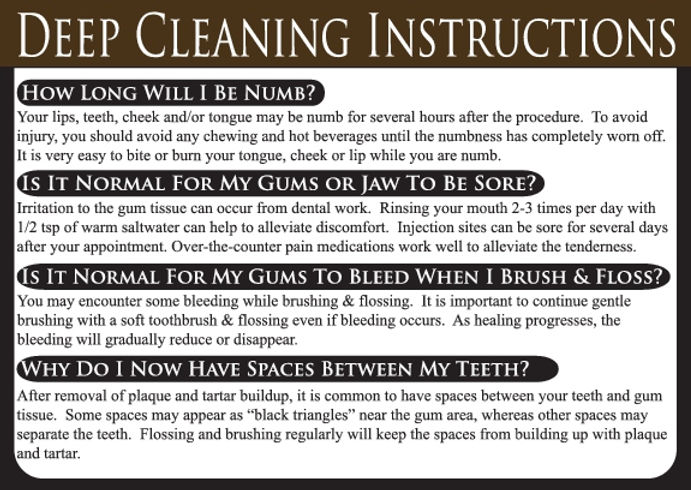 Deep Cleaning Dental Care Card