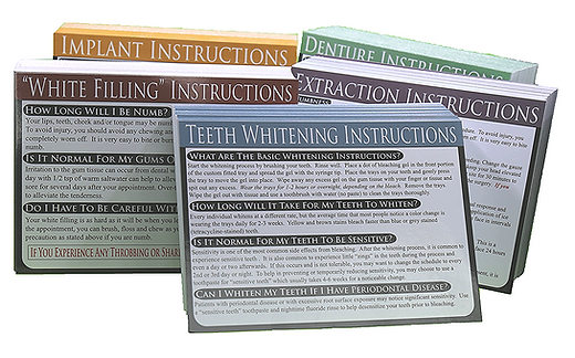 Dental Care Cards Refill Packages