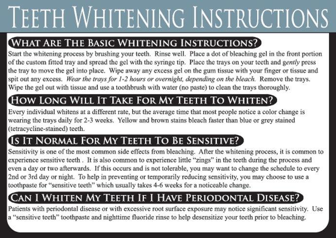Teeth Whitening Dental Care Card