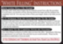 White Filling Dental Care Card