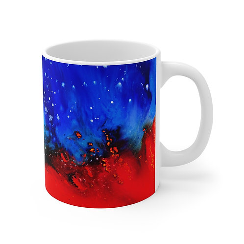 """Flaming Star"" Mug"
