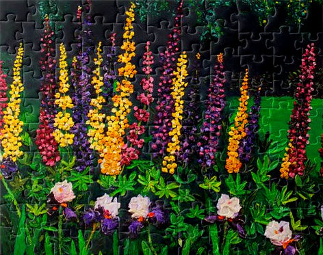 Lupine Majesty Puzzle