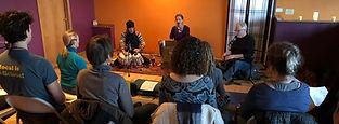 Mantras and chanting led by Kathleen Karlsen at the Motnana Lotus Yoga Center