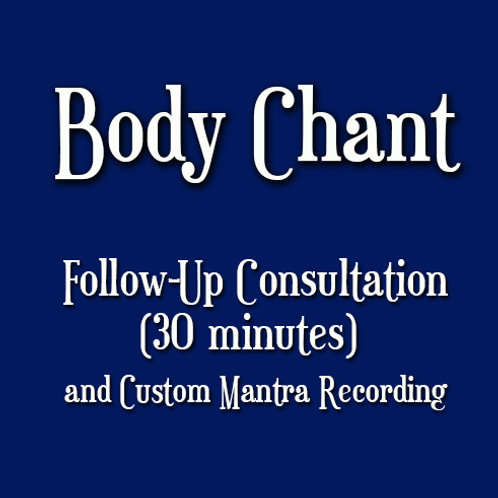 Follow Up Body Chant Consultation (30 min)