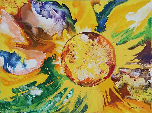 "The Joyous Sun 18x24"""