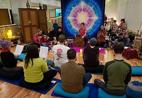 Kirtan at the Yoga Motion Wellness Academy with Kathleen Karlsen
