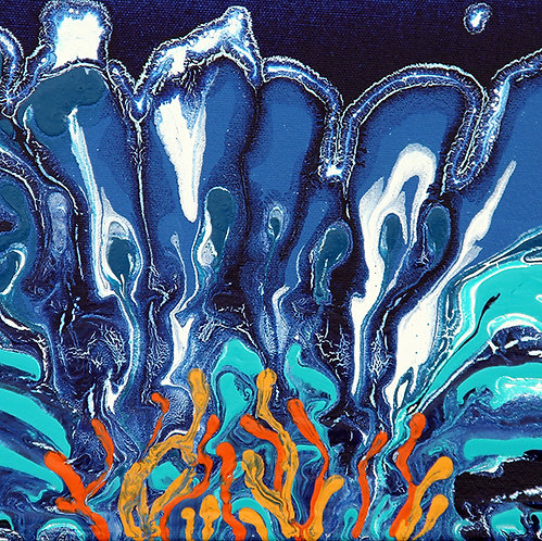 "Blue Lotus 9x12"""