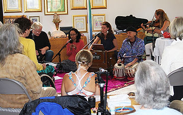 Summer solstice celebration with mantras and chanting
