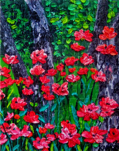 Poppies in the Forest Puzzle