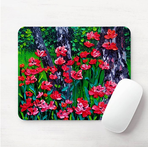 Poppies in the Forest Mouse Pad