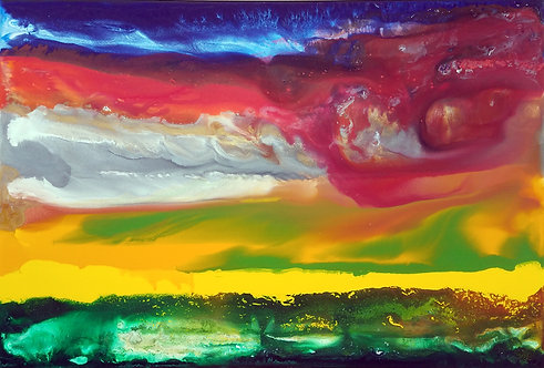 """The Red Wind 24x36"""""""