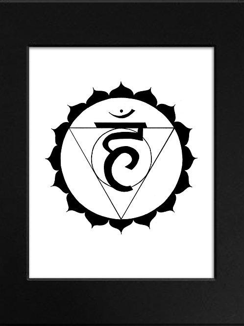 Throat Chakra Print