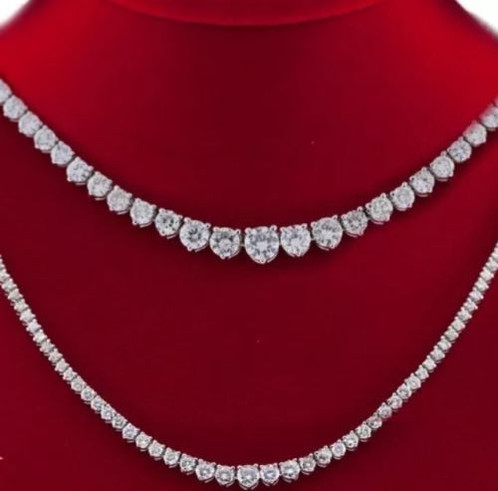 center ct carats watch spectacular tennis stn graduated youtube necklace diamond