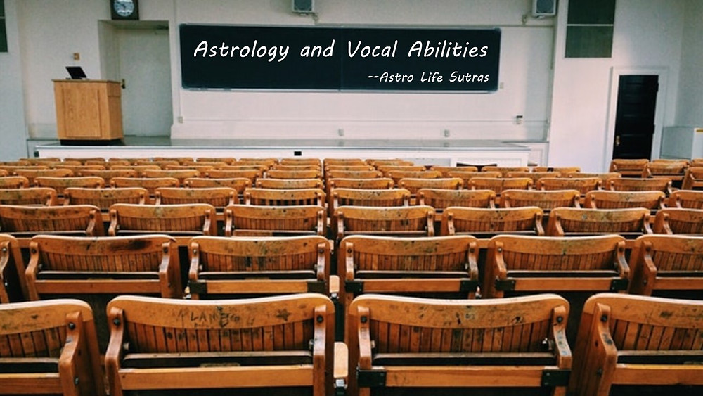 Vocal power and astrology