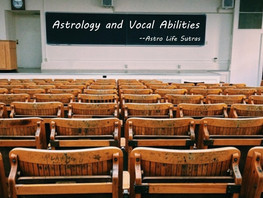 Vocal traits and Astrology