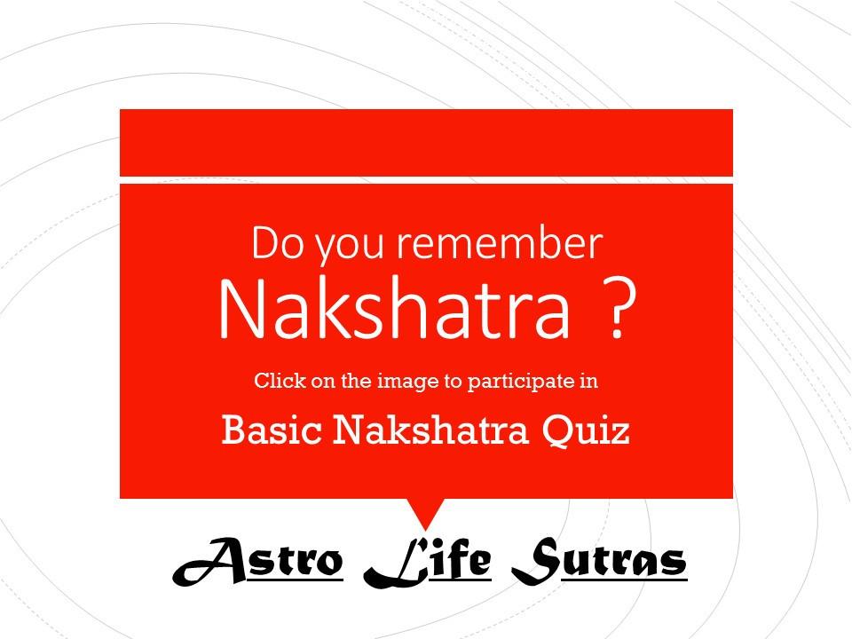 Nakshatra Quiz