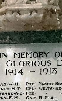 Christ Church, Swindon, War Memorial renovation after