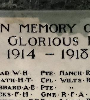 Christ Church, Swindon, War Memorial renovation before