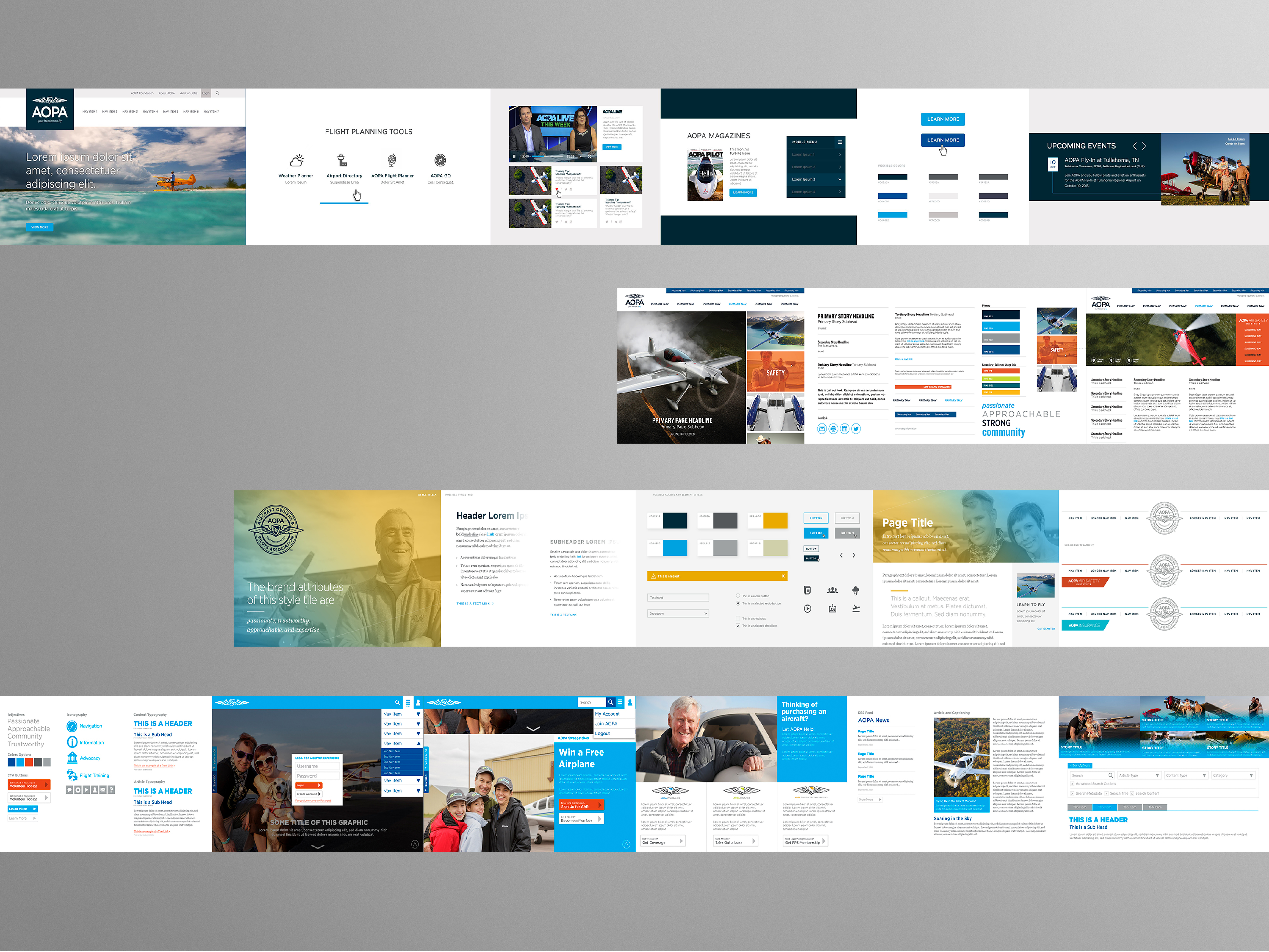 AOPA Website Redesign - Strategy
