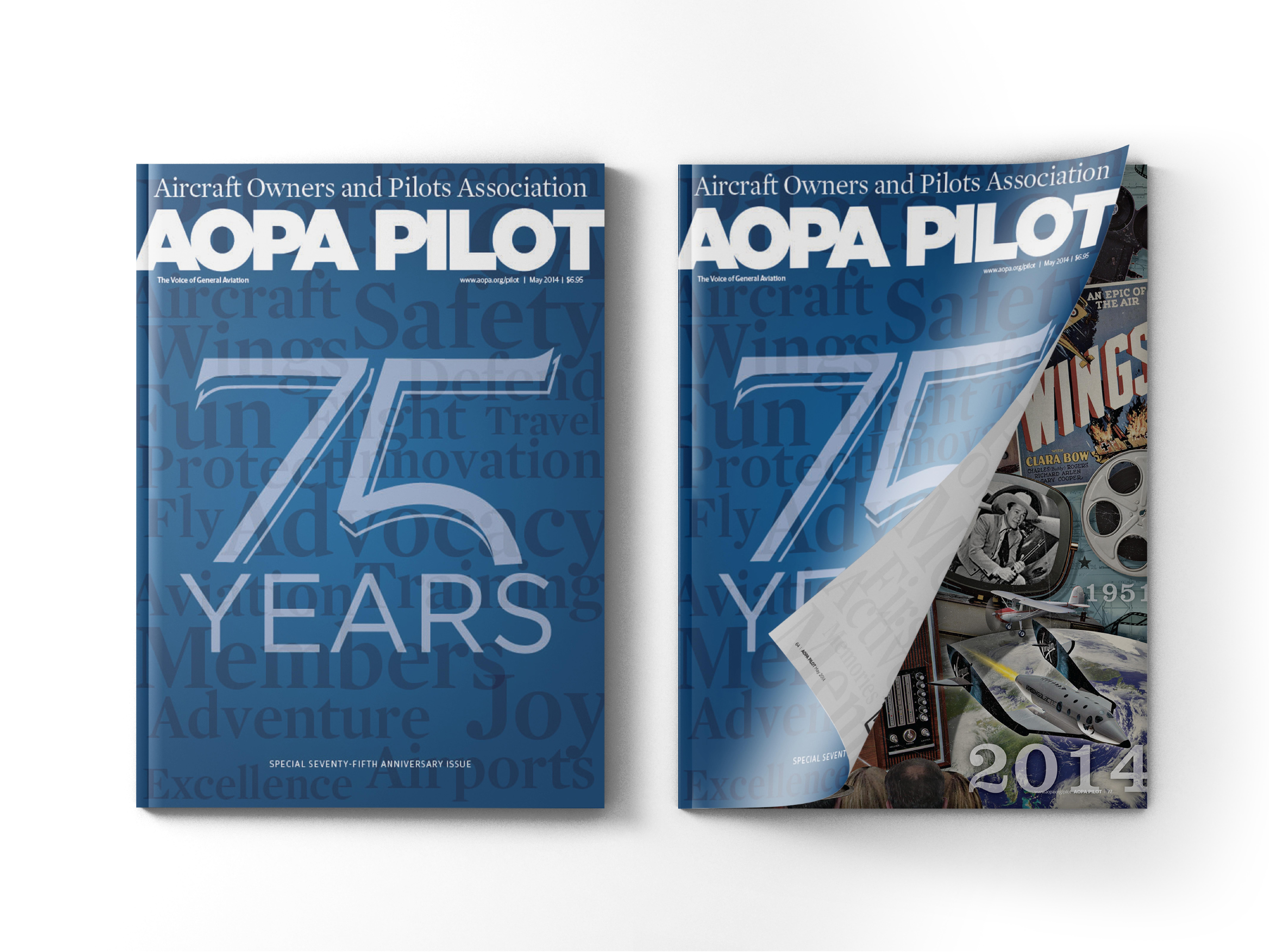 AOPA Pilot - Cover Design