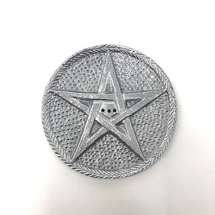 Silver Pentagram Incense Holder
