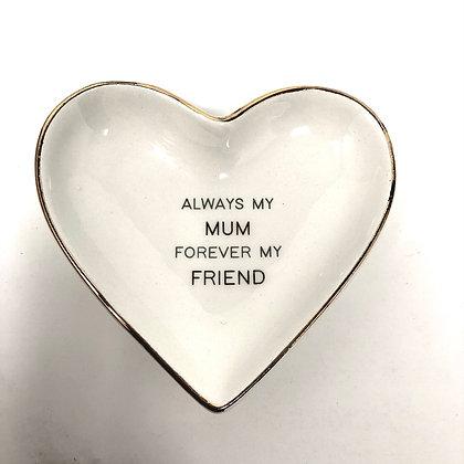 Mum Heart Trinket Dish