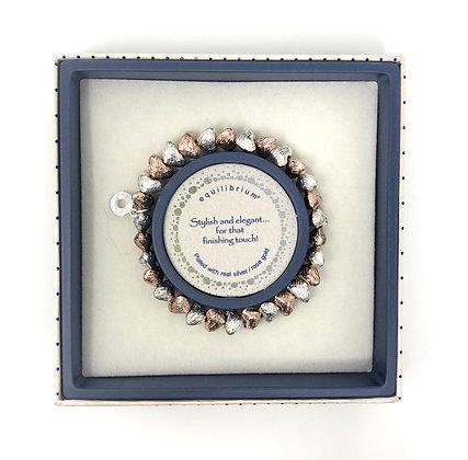 Pebble Heart 2 Tone Bracelet