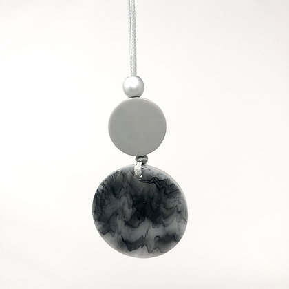 Long Grey Circle Necklace